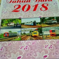Kalender Dinding Tahun 2018 Tema Kereta Api Tipe 4