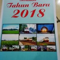 Kalender Dinding Tahun 2018 Tema Kereta Api Tipe 2