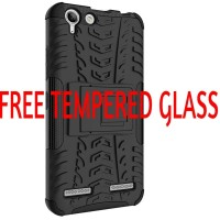 Lenovo Vibe K5 Plus/Lemon 3/K5 Casing Rugged Armor Soft Case KickStand