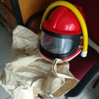 Helmet blasting helm sandblasting