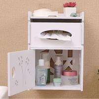 Rack Rak Dinding Desktop Storage Tissue Kosmetik Serbaguna MegaHome