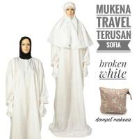 Mukena travel parasut terusan sofia