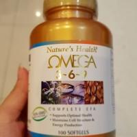 Jual Nature health omega 3-6-9 minyak ikan 100 softgel Murah