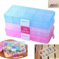Kotak Obat 10 Kotak / Kotak Penyimpanan Obat / Kotak Aksesoris - X068