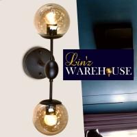 Lampu dinding RETRO DOUBLE GLASS wall lamp