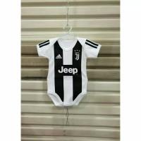 Baju jumper/jumpsuit baby motif bola Juventus