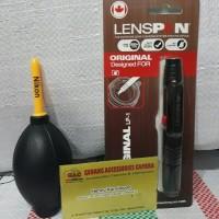 paket lenspen Lp1 dan blower pembersih hp kamera dan laptop