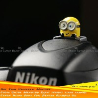 Hot Shoe Cover FLash Minions Unik Lucu Keren Kece Kamera DSLR Canon