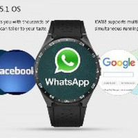 KINGWEAR KW88 3G Android 5.1 Smartwatch Phone Black-Bla Berkualitas