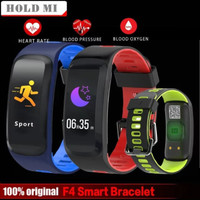 smartwatch DT NO1 F4 layar warna smartband heart rate waterproof