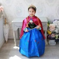 Baju Dress Kostum Anna Frozen Jubah Merah Best Seller!