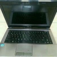 Laptop Asus A43s core i3 RAM 4gb VGA NVIDIA Gforce 2GB HDD 500 GB