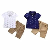 Baju bayi dan anak laki-laki motif jangkar