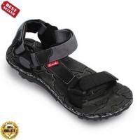 69 Sepatu - CARVIL SANDAL PRIA SHIBO-GM BLACK GREY