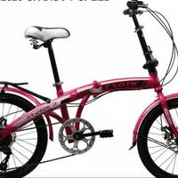 Sepeda lipat 20 Exotic double disc brake cakram KHUSUS GOSEND BANDUN
