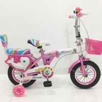 Sepeda Lipat Anak 12 LKF121 Untuk Anak Perempuan Terlaris