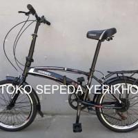Sepeda Lipat 20 Odessy Shimano 7 speed Rem V Brake Terlaris