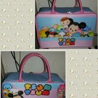 Travel bag Kanvas motif tsum tsum