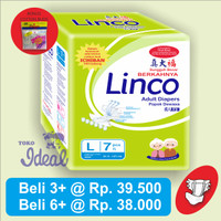 Popok Dewasa / Adult Diapers - LINCO Size L Isi 7 Pcs