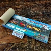 Harga cetak voucher tiket art paper 150 1 sisi 1 rim | antitipu.com