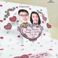 Kartu Ucapan LOVE Custom Wajah Pop Up Card Upgrade Secret & Motion