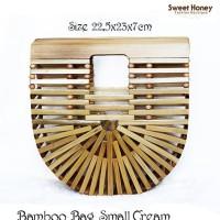 Tas Bambu Jinjing Kecil Bamboo Bag Ark Small Size Cream Light Brown