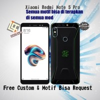 Garskin HP Xiaomi Redmi Note 5 Pro Motif Black shark - Free Custom