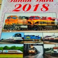 Kalender Dinding Tahun 2018 Tema USA Railroad