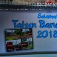 Kalender Meja Tahun 2018 Tema Commuterline