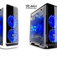 Casing Komputer Paradox Titania C01-D12 TEMPERED GLASS - No PSU