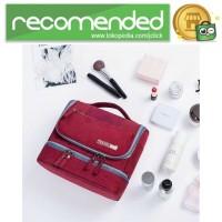 Tas Organizer Kosmetik Peralatan Mandi Travel Carry On - Hitam