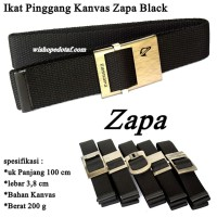 Ikat pinggang Jepit Kanvas Simple Black ZAPA