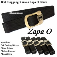 Ikat pinggang Jepit Kanvas Simple Black ZAPA O