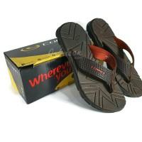 Sandal Jepit Pria CONNEC - LEGACY Coklat Tua / Bata ORIGINAL