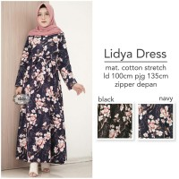 Lidya dress gamis murah elsire