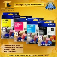 Tinta Brother LC 583 LC583 LC-583 ORI Printer MFC J2510 J3520 J3720
