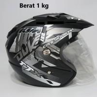 Helm 2 kaca (Double Visor) Murah Black doff Abu Duke DMN BXP