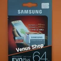 SAMSUNG MICROSD EVO PLUS 64GB 100/s / MICRO SD 64 GB 100 mbpsCLASS 10