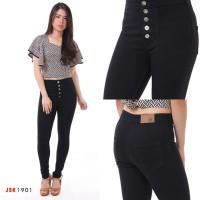 Celana Jeans Wanita Highwaist Skinny Kancing 5 JSK