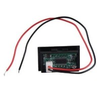 Mini DC LED Panel Voltage Meter 3-Digital Display Voltm Berkualitas