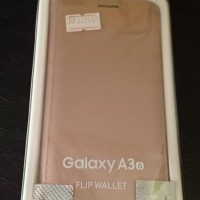 Flip Cover Samsung A3 Gold Original