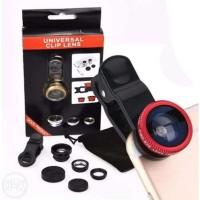 lensa fisheye / lensa kamera hp / fisheye 3in1 / lensa pembesar