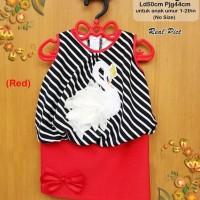 Dress anak perempuan lucu |pakaian bayi -dress anak 999 angsa - 12-18