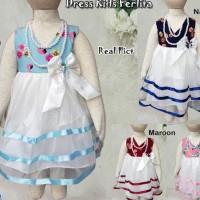 dress baju anak lucu|pakaian bayi perempuan|dress kids ferlita - 18-24