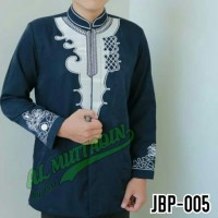 Busana muslim pria baju koko jas koko jasko warna biru dongker jbp005