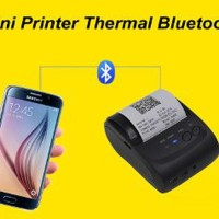 STOK TERBATAS Mini Printer Thermal Bluetooth bisa hp andro Berkualitas