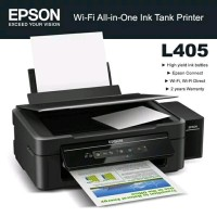 Printer Epson L405 Print Scan Copy Wireless New Berkualitas