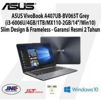Laptop ASUS VivoBook A407UB-BV065T Grey i3-6006U 4GB 1TB MX110 Limited