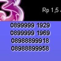 Nomor Cantik Three 089 888999 XX