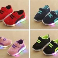 Sepatu Sneaker Anak LED/Sepatu Anak Olahraga LED Import Murah